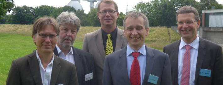 Der alte und neue Vorstand des IWW-Fördervereins: Urban (ehemaliges Vorstandsmitglied),Fritzsche,Teichgräber,Schüller,Merkel (von links, es fehlt C. Sailer)
