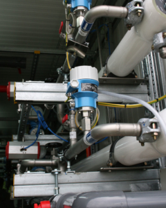 Umkehrosmose Module in einer Versuchsanlage (Quelle: IWW)